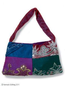 Hippy Bag~Ethnic Vintage Sari Evening Shoulder Bag~Fair trade through Folio Gothic Hippy SB60